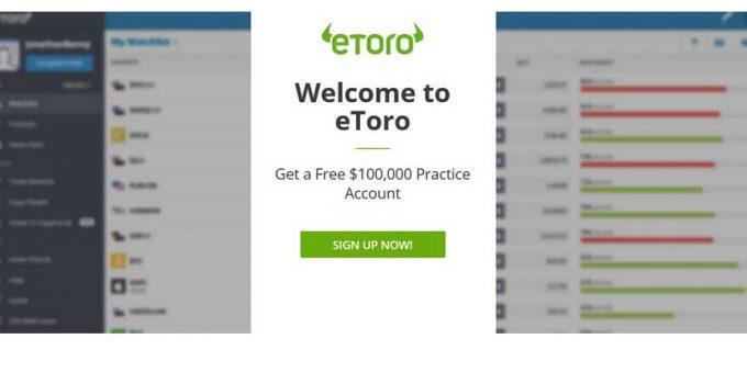 eToro Demo: Cum să deschideți un cont de practică